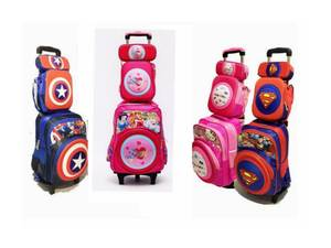 Children Backpack Trolley Bag Wheels Girl Kids Boy School with