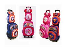 kids trolley wheeled Backpack set Children backpack with Wheels Trolley Bag For School Rolling backpack Bag For girl boy school(China)