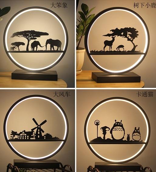 18 Wled Lamp Eye Verstelbare Licht Bedlampje Slaapkamer Art Woonkamer Minimalistische Moderne Creatieve Kinderkamer Herten Lighs Talrijke In Verscheidenheid