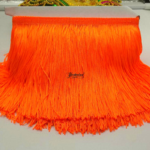 YACKALASI 10 Yards/Lot Dress Fringe Trimming Tassel Bright Fringe Lace Polyester Single Band 15cm Long 9.5 10.0 Yards one lottrim tassels15cm fringepolyester tassel