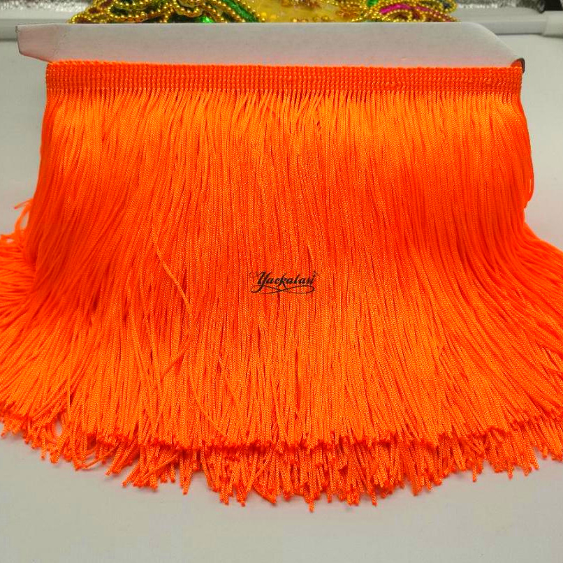YACKALASI 10 Yards/Lot Dress Fringe Trimming Tassel Bright Fringe Lace  Polyester Single Band 15cm Long 9.5 10.0 Yards One Lot