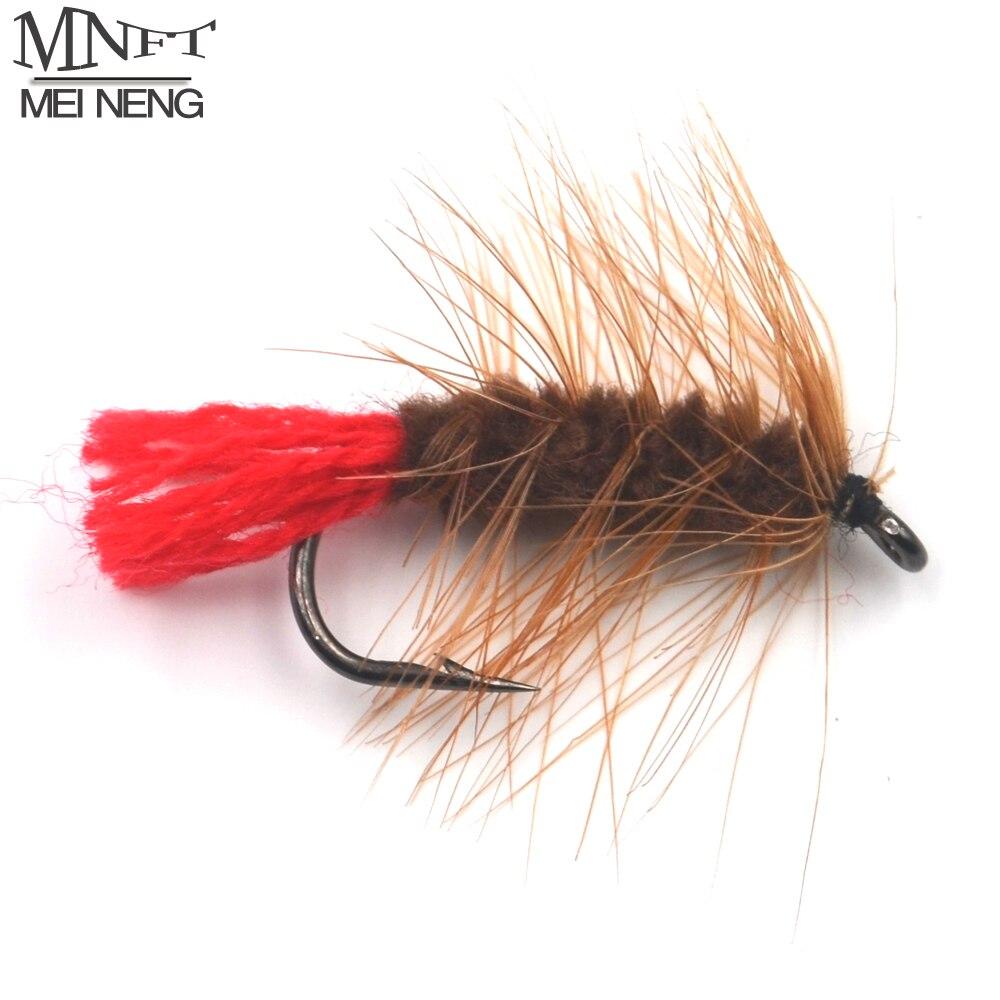 MNFT 10 UNIDS 6 # Marrón Ninfa Wooly Bugger Trucha Con Mosca Gusano Cebos de Pes