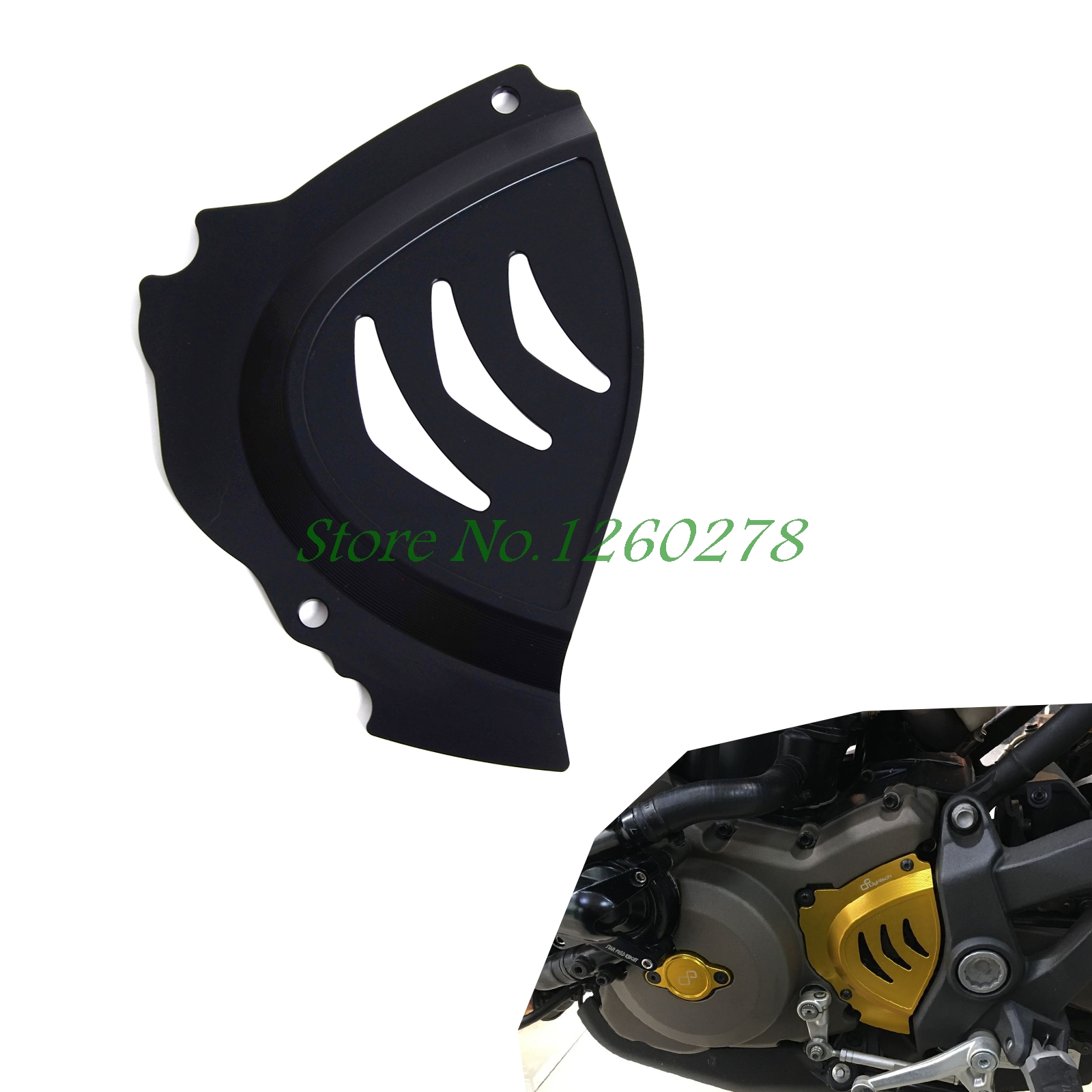 ФОТО Billet Aluminum Front Sprocket Chain Cover For Ducati  Monster 821 1200 S 2014 2015 2016