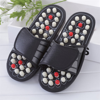 2 Colors One Pair Foot Massage Shoes Man And Women Rotating Foot Acupuncture Healthy Relaxation Slipper Sandals Reflex Stress
