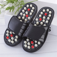 2 Colors One Pair Foot Massage Shoes Man And Women Rotating Foot Acupuncture Healthy Relaxation Slipper