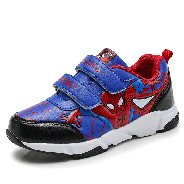 Spring Autumn Toddler Kids Spiderman Shoes Boys Pu Leather Comfy Sport Children's Shoes Sneakers School Student Shoes for Boys