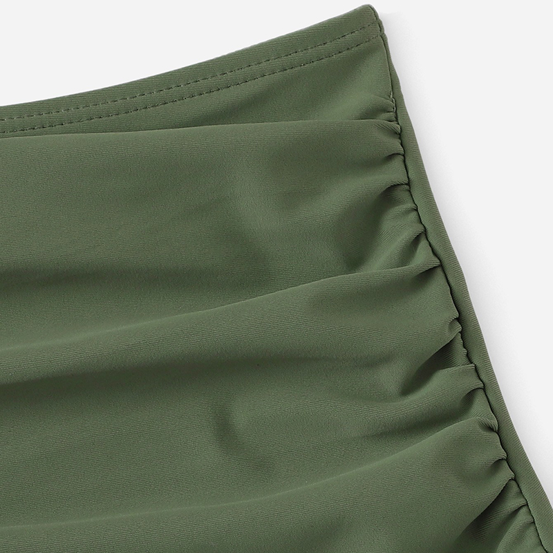 Army Green Plus Size Bikini With Chest Pad 8