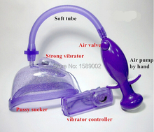 2017Hot New Pussy Pump with vibrator, Vagina Pump, Sex Products for women, female sex toys strong vibrating machine love