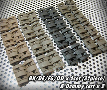 32Pcs in 1 Pack Tactical Airsoft Rail Panels Covers Flat Pat Pend 4 Colors Avaliable New