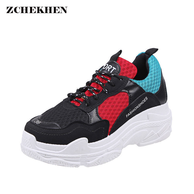 Trainers Sneakers Mesh Women Vintage Dad Casual Shoes Woman Fashion Cushion Air Damping Shoes Zapatos Mujer Tenis Feminino peak sport speed eagle v men basketball shoes cushion 3 revolve tech sneakers breathable damping wear athletic boots eur 40 50