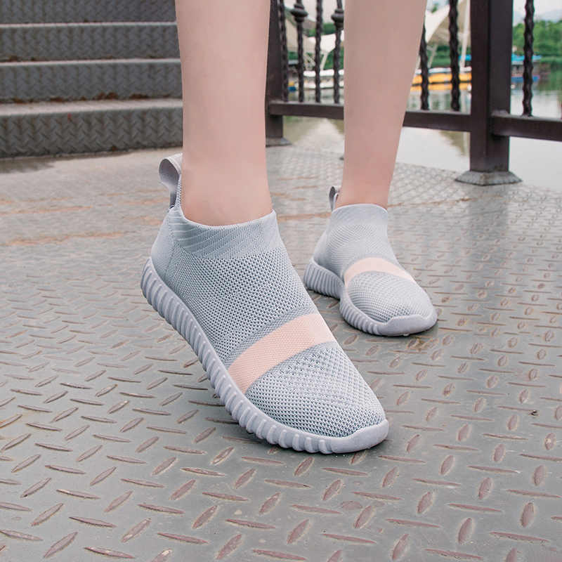 3e7e5fc48 ... Bjakin Sock Women Running Shoes 2018 New Sport Shoes Sneakers Woman  Athletic Socks Breathable Walking Slip