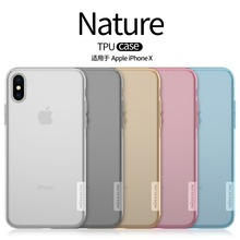 Nillkin for Apple iphone X case nature Clear Soft silicon TPU Protector case for iphone 10 phone bags transparent retail package