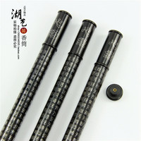 Delicate ebony pure manual Mosaic silver heart sutra long joss stick cylinder Mid Autumn festival gift aloes tube teachers