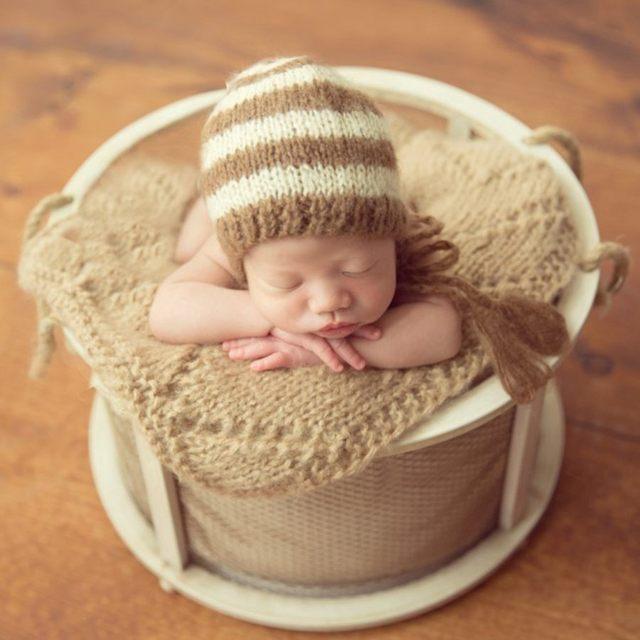 2017 Recém-nascidos Cesta Tigela Bebê Adereços Fotografia Posando, Lidar Com Cocoon Newborn Ninho Moda Cadeiras de Bebé, # P0417
