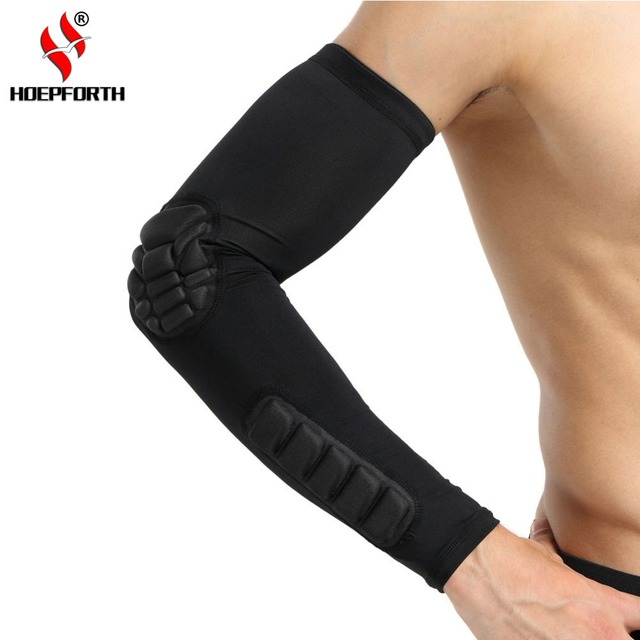 688c27c853 Hopeforth 1 PC Hex Honeycomb Sponge Basketball Arm Sleeves Anti-crash  Compression Armband Sport Elbow Pads Coderas Protector