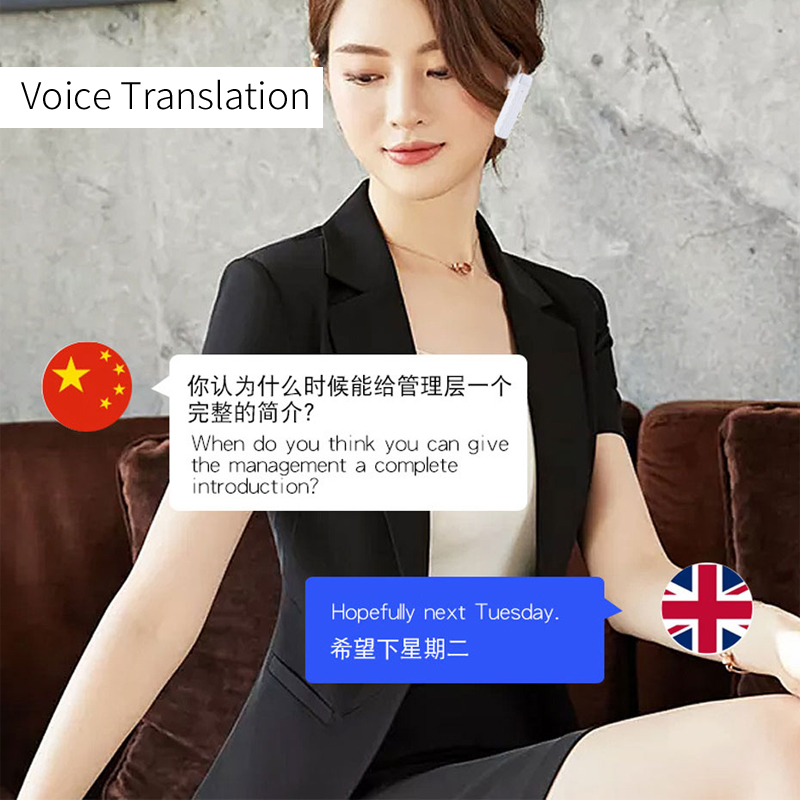 Image 3 - OUSU 33 Languages Free Charger Translator Earphone Bluetooth 5.0 Wireless Earphones TWS Earpiece hifi Bass Earbuds auriculares-in Bluetooth Earphones & Headphones from Consumer Electronics