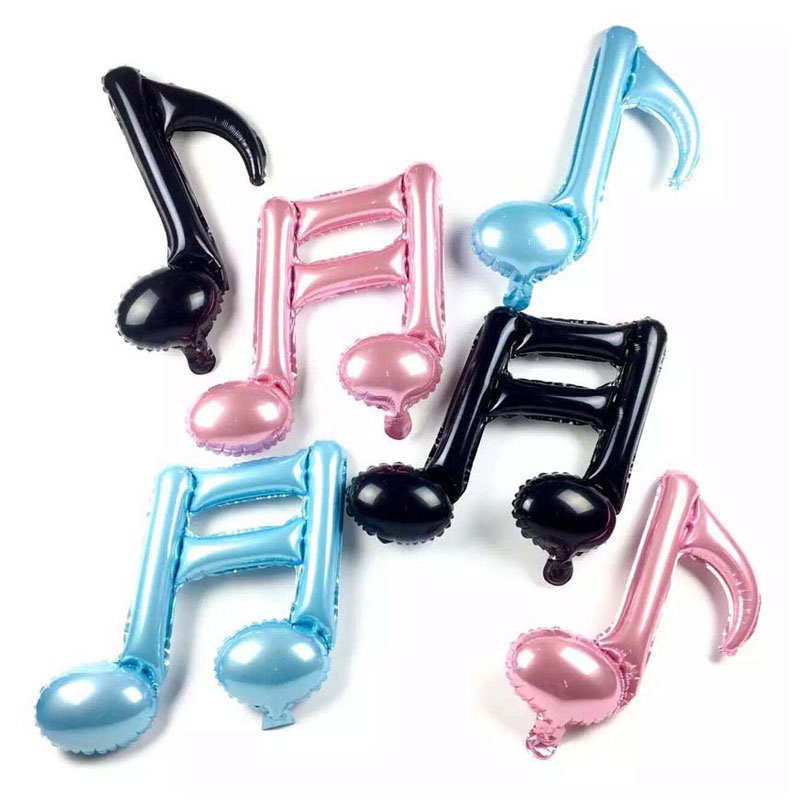 1PCS Musical Note Balloon Happy Birthday Balloons Wedding Decorations Inflatable