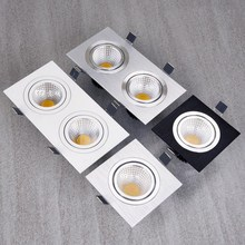 Wholesale Super Bright Recessed LED Dimmable  1*10W/2*10W Downlight COB 20W Spot light Ceiling Lamp AC 110V 220V