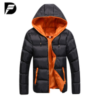 Winter Jacket Men Casual New Hooded Thick Padded Jacket Zipper Slim Men And Women Coats Men