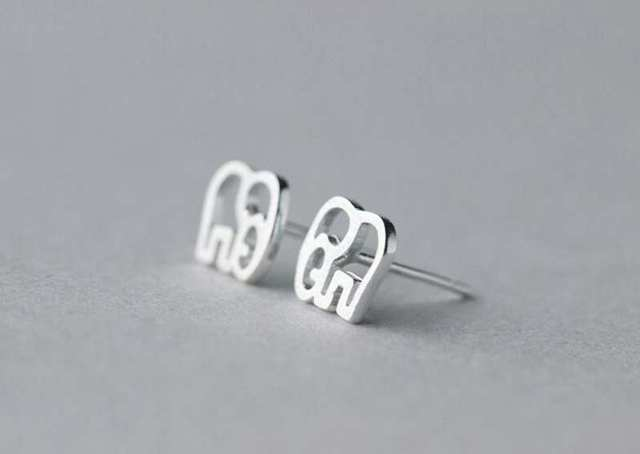 Simbol of Love Tiny Elephant Stud Earrings4