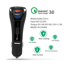 QC 3.0 Fast Charger 3.1a USB Dual Port Car Charger C Type Android Smartphone