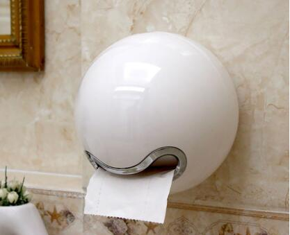 fashion paper holder bathroom tissue box waterproof aluminum toilet paper box toilet paper box toilet paper holder fashion plastic paper box waterproof ball shape towel tissue box innovative bathroom toilet paper holder case green white