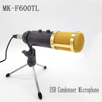 TGETH MK F500TL Upgraded MK F600TL USB Microphone Condenser Wired Microphone With Stand For Karaoke Video Recording PC