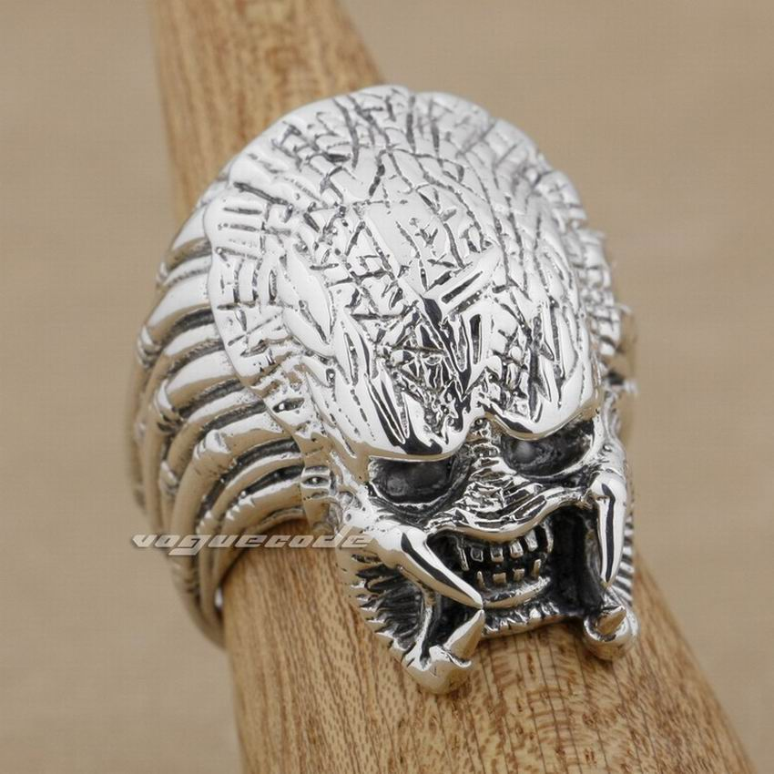 925 Sterling Silver Alien Predator AVP Mens Biker Rocker Anello Punk 9M003-in Anelli da Gioielli e accessori su  Gruppo 1