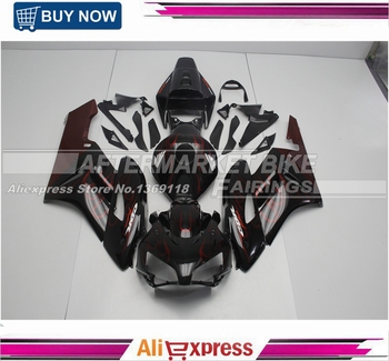 100% Good Quality ABS  CBR1000RR 04 2005 Fairing Kit For Honda Parts Red And Black Flame