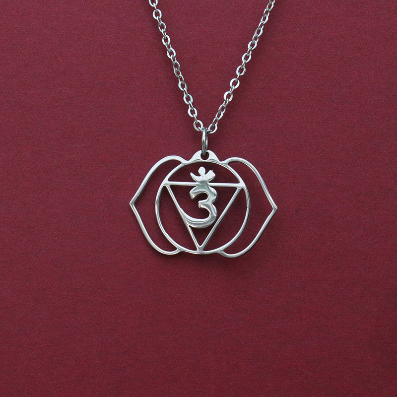 925 Sterling Silver Awareness Energy Gift NEW Anja Third Eye Chakra Necklace