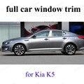 Наружные аксессуары из нержавеющей стали для K-ia K5  рамка для автомобильного подоконника  полная оконная отделка с колонной  автомобильный С...