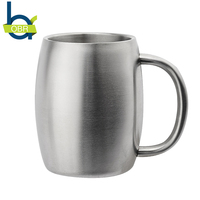 14oz Practical Stainless Steel Mug Coffee Beer Cup Double Wall Water Mug Traveling Outdoor Camping Sports
