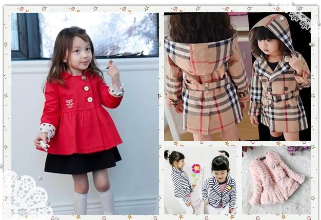 New 2014 children outerwear spring summer baby & kids girls plaid ...