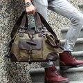 2016 nuevos hombres de lona de la nueva moda diseño lavar la lona de hombre bolsas bolso Multi