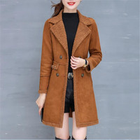 Faux Lambswool Double Breasted Autumn Winter Jacket Women Casual High Quality Winter Coat Women Slim Parka