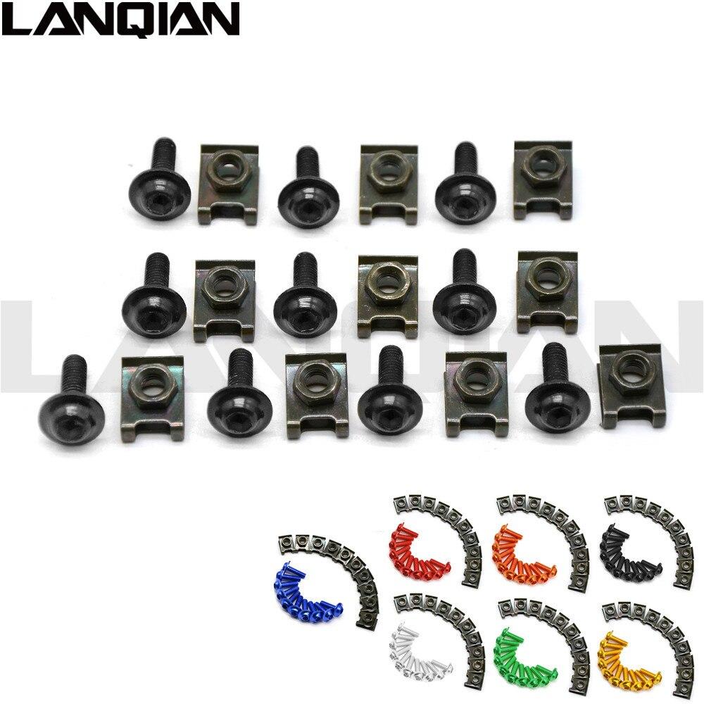 10PCS 6mm CNC motorcycle body work fairing bolts screwse for Honda VFR800 CBR1100XX ST1300 ST1300A VFR 800 CBR 1100XX ST1300A