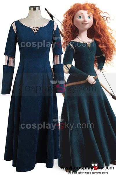 Brave Princess Merida font b Dress b font Anime Cosplay Costume font b Women b font