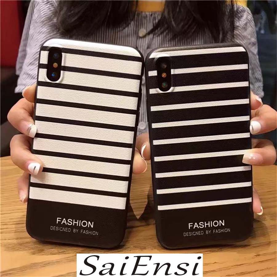 SaiEnsi for iPhone 7 Case shirt stripe Silicone Niceking Matte TPU Black Soft Back Cover Phone Cases For iPhone 6 6S 7 8 Plus