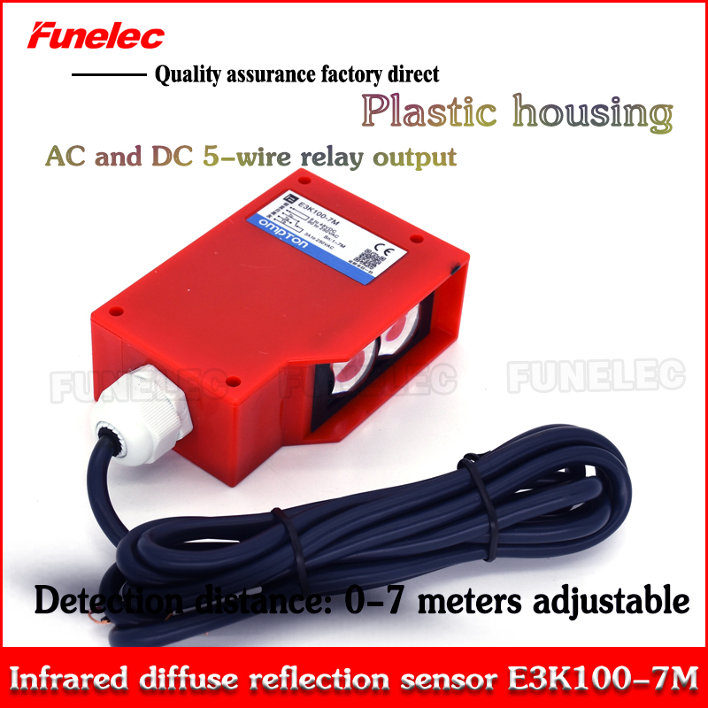 Ultra Long-distance Photoelectric Switch E3K100-7MAD AC And DC 12V~250VAC And 12V-250DC Universal Diffuse Reflection Sensor