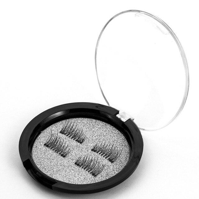 Popular 6D Magnetic Eye Lashes Cílios Postiços Maquiagem Duplo Ímã Faixa Lashes Cílios Postiços Feitos À Mão cílios postiços