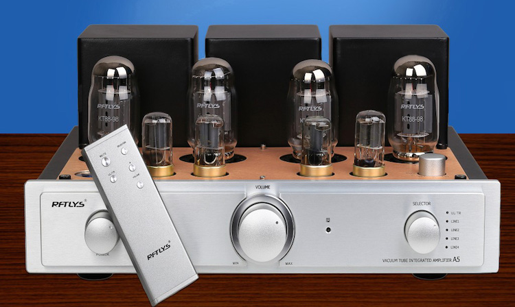 RFTLYS A5 KT88 Tube Amplifier HIFI EXQUIS Integrated Push & Pull AMP with Bluetooth meixing mingda mc368 b kt88 push pull tube amplifier hifi exquis high power 50wx2 integrated lamp 6n8p 6sn7 amp