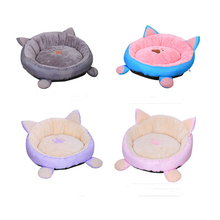 Soft Pet Nest Cats Sand Cotton Detachable Washable Puppy House Four Seasons Universal Plus Velvet Dogs Mat Supplies