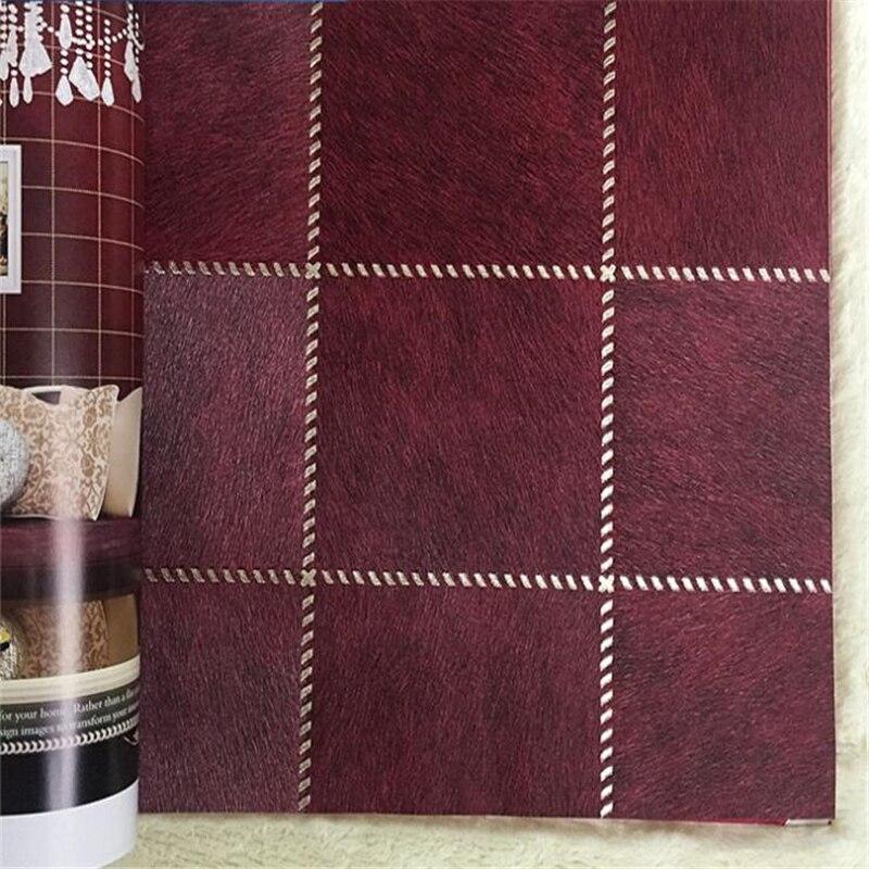 beibehang European imitation leather wallpaper living room bedroom sofa TV background wall 3D square leather wallpaper beibehang american village wallpapers ab edition bedroom living room tv wall wallpaper background warm and romantic wallpaper