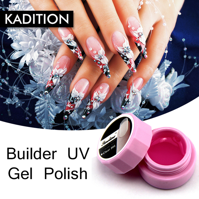 Kasition 8 Ml Gel Nail Manicure Extension 3 Colors Gel Nail Varnish