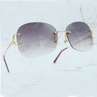 Vintage Sunglasses Men Fashion Carter Sunglass Women Shade Eyewear Luxury Brand Designer Popular Big Sun Glasses