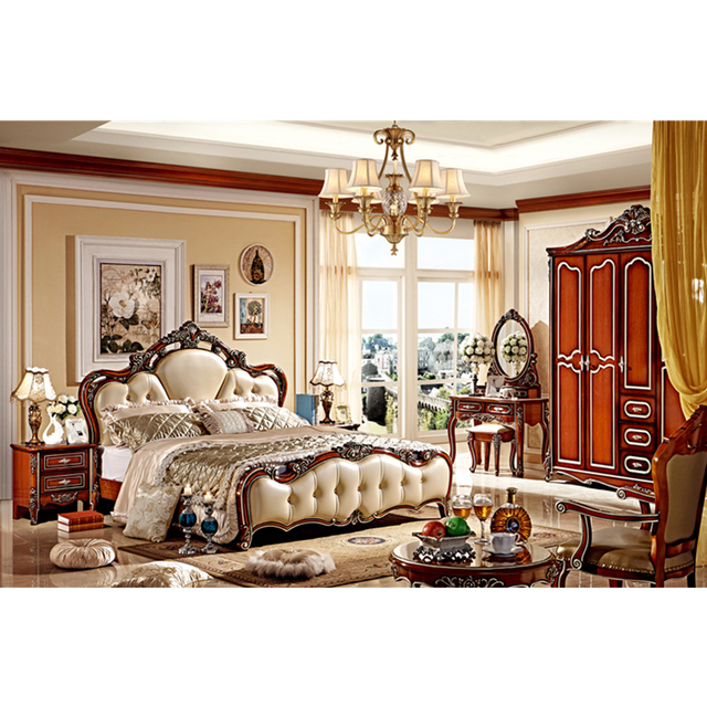 Classic King Size Bedroom Set European Style Hot Sell Royal Luxury