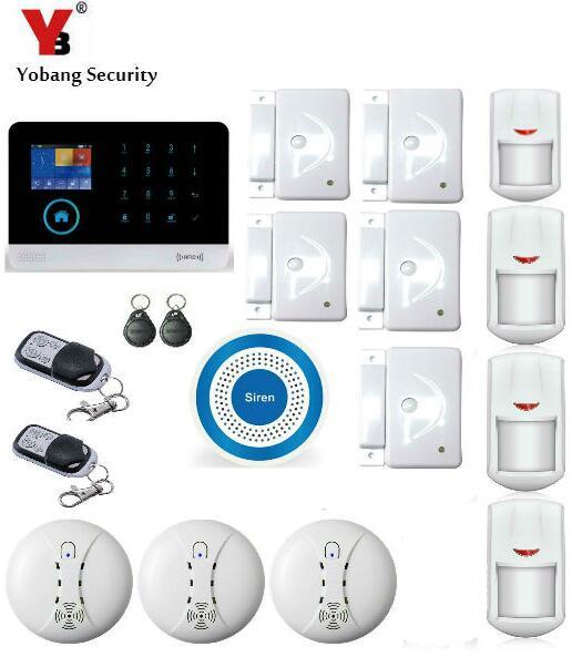 Yobang безопасности 3G WI FI сигнализации Системы SMS Беспроводной дома Охранной Сигнализации Наборы синий флэш Siren Поддержка IOS приложение для