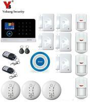 Yobang Güvenlik 3G WIFI Alarm Sistemi SMS Kablosuz Ev Güvenlik Alarm Kitleri Mavi Flaş Siren Destek IOS Android APP uygulama