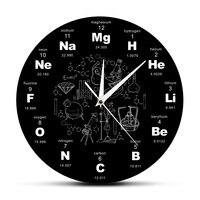 Periodiek Systeem Der Elementen Wall Art Chemische Symbolen Wandklok Educatief Elemental Display Klaslokaal Klok Leraar Gift