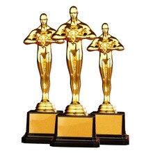 Индивидуальная награда в стиле «Оскар», PC, трофей, позолоченный, маленький золотой человек, командный спортивный конкурс, ремесло, сувенир, подарки, 4 размера